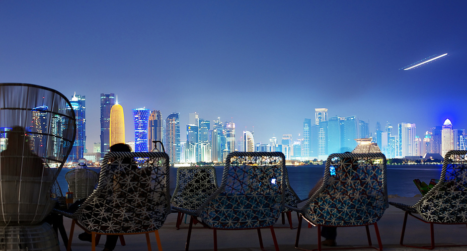 Qatar Skyline Night - Al Bidda Group
